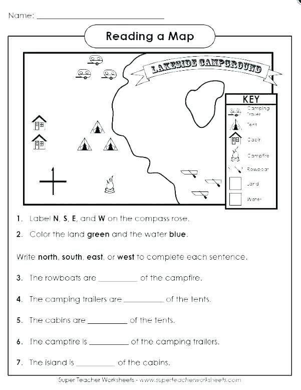 1st Grade Map Skills Worksheets 1st Grade Map Skills Worksheets In 2020