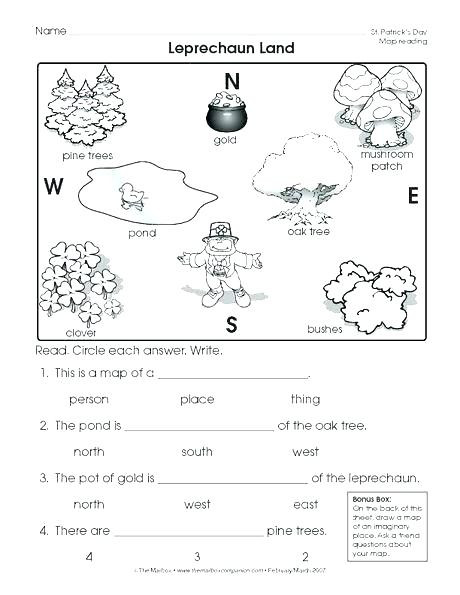 1st Grade Map Skills Worksheets First Grade Geography Worksheets Goodaction 1st 6th Coin 4th