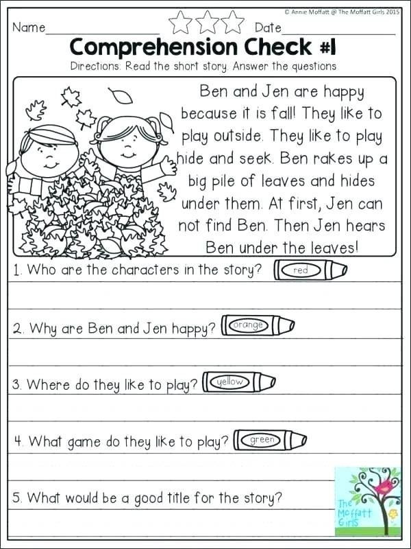 1st Grade Reading Worksheets Pdf 1st Grade Worksheets Pdf Reading