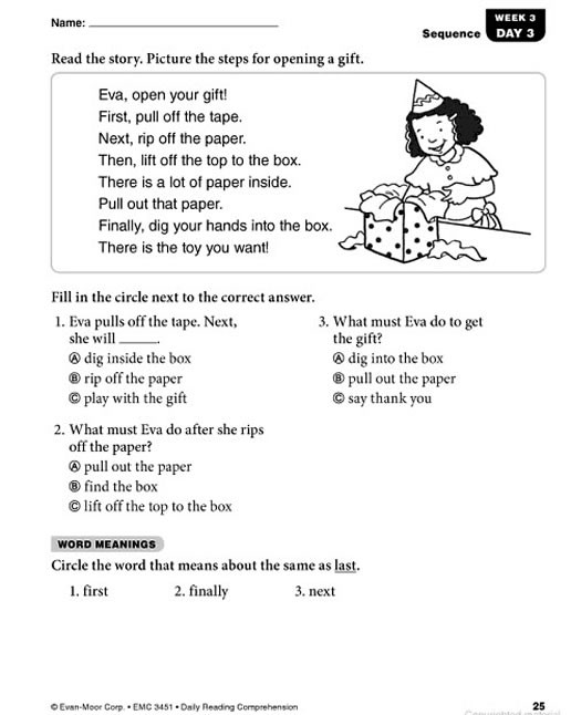 1st Grade Reading Worksheets Pdf Daily Reading Prehension Grade 1 Pdf