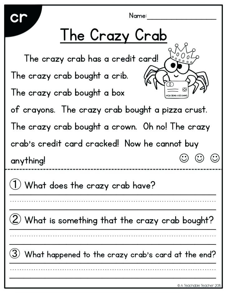 1st Grade Reading Worksheets Pdf Reading Worksheets for 2nd Grade – Momami