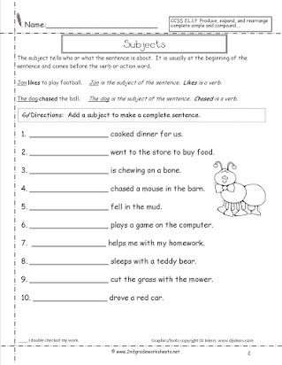 2nd Grade Editing Worksheets Free Sentence Correction Worksheets for 2nd Grade