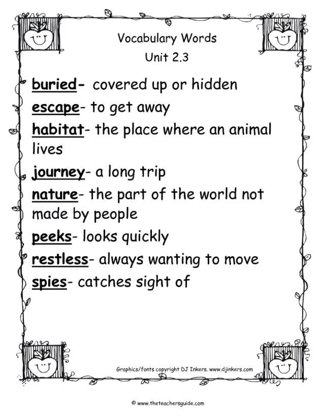 2nd Grade Habitat Worksheets Second Lang Arts