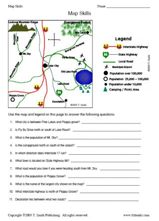 2nd Grade Map Skills Worksheets Map Skills Worksheet 2