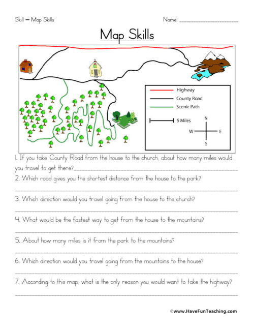 2nd Grade Map Skills Worksheets Maps Worksheets • Have Fun Teaching