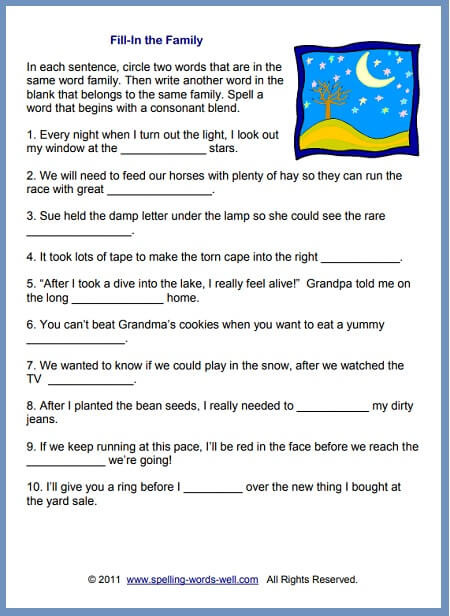 2nd Grade Spelling Worksheet Worksheets for 2nd Grade Spelling Practice