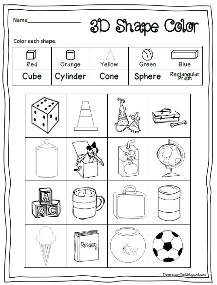 3d Shapes Worksheet Kindergarten 5 Best Of Printable 3d Shapes Kindergarten 3d