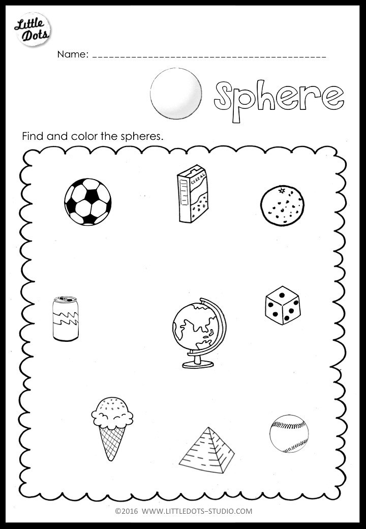 3d Shapes Worksheet Kindergarten Kindergarten Math 3d Shapes Worksheets and Activities