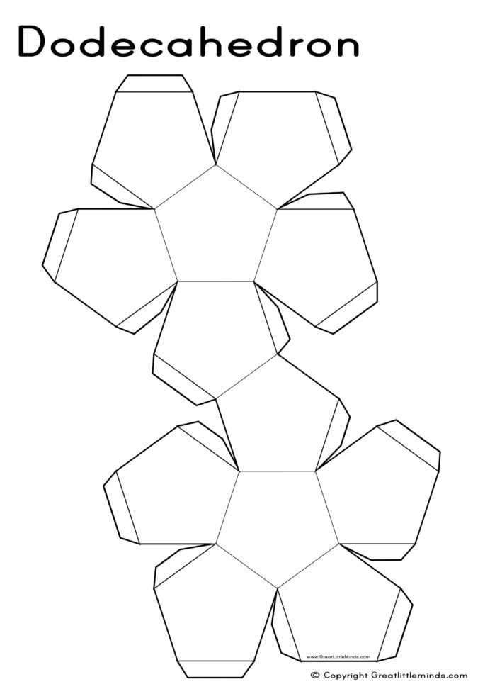 3d Shapes Worksheets 2nd Grade Nets Dodecahedron with Shapes Practice Worksheets