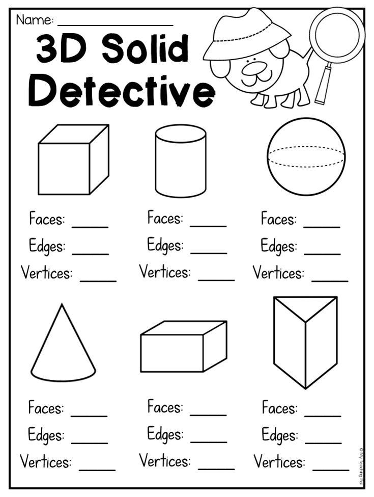 3d Shapes Worksheets 2nd Grade Pin On My Future Classroom