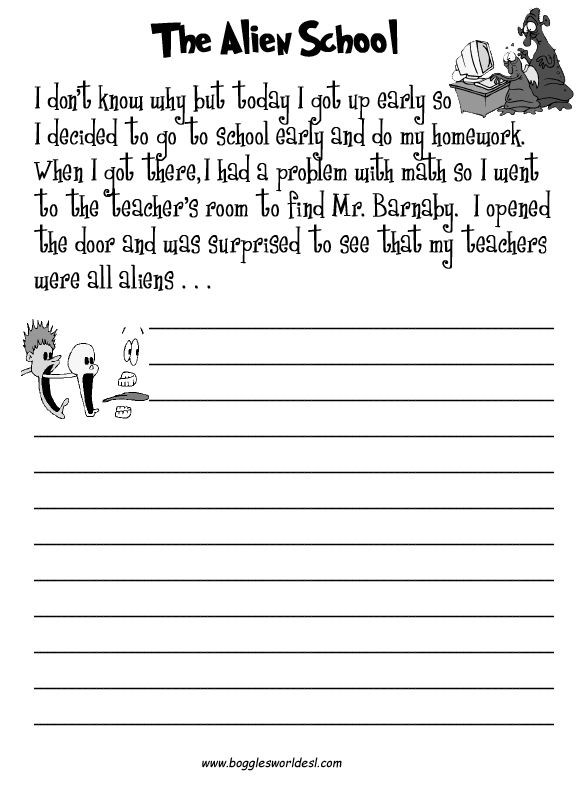 3rd Grade Essay Writing Worksheet Creativealienschool 576—792 Pixels
