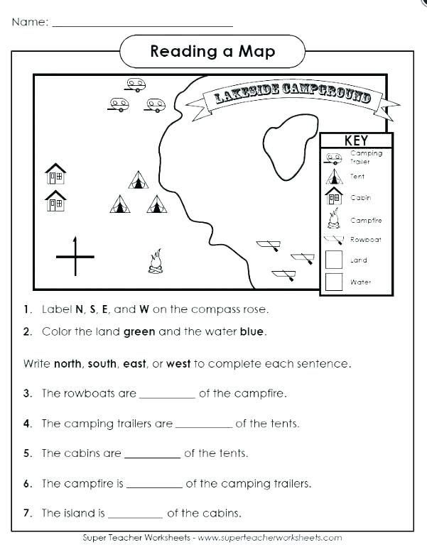 3rd Grade Map Skills Worksheets Free Map Skills Worksheets Worksheets Rate Math is Fun