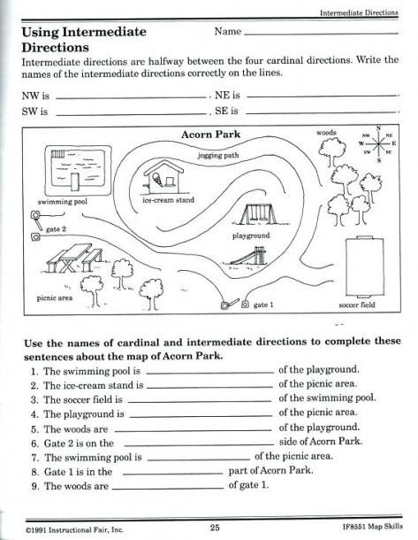 3rd Grade Map Skills Worksheets Map Skills Worksheets Middle School In 2020 with Images