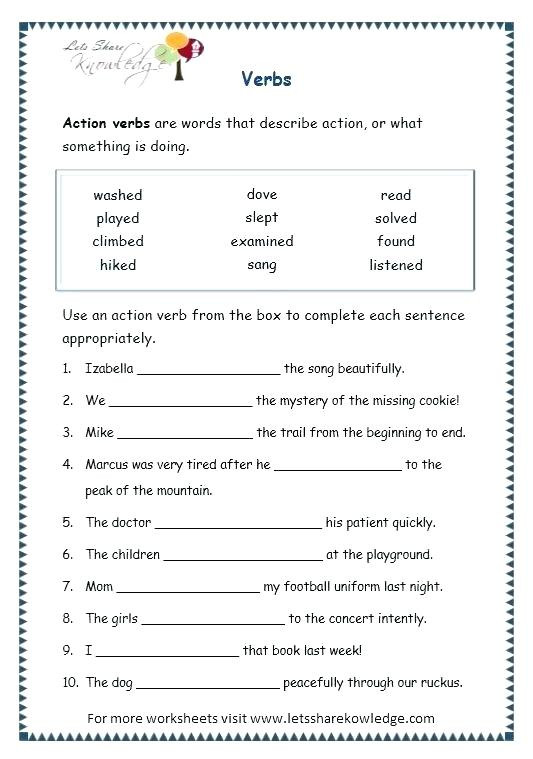 4th Grade Grammar Worksheets Pdf Grade English Worksheets Leter Grammar for Nouns Mon and