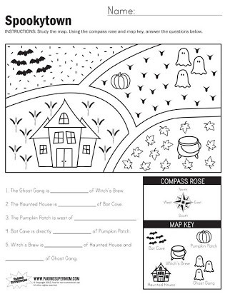 4th Grade Map Skills Worksheets Free Map Skills Worksheets Second Grade