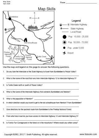 4th Grade Map Skills Worksheets Tlsbooks Free Worksheets Map Skills Worksheet