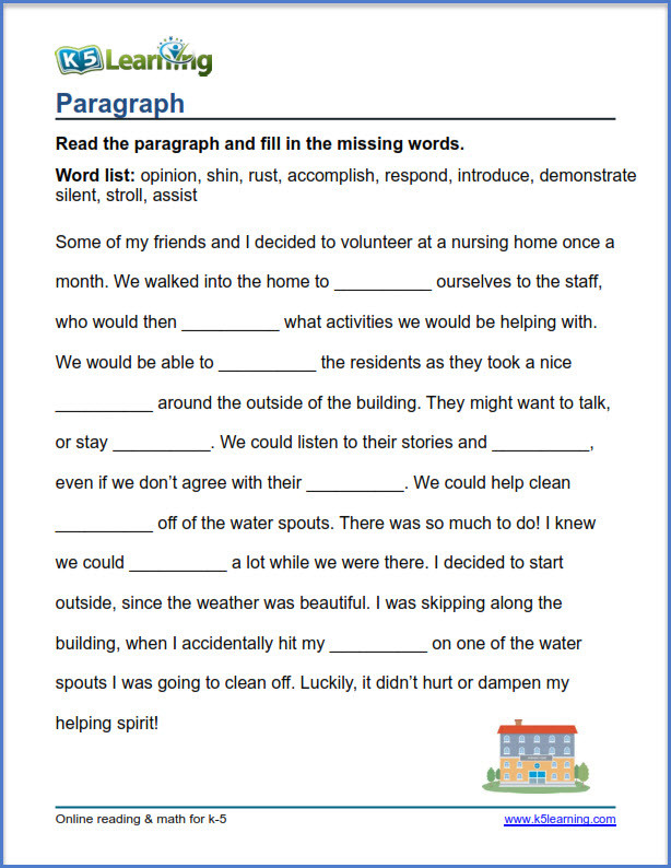4th Grade Vocabulary Worksheets Pdf Grade 4 Vocabulary Worksheets – Printable and organized by