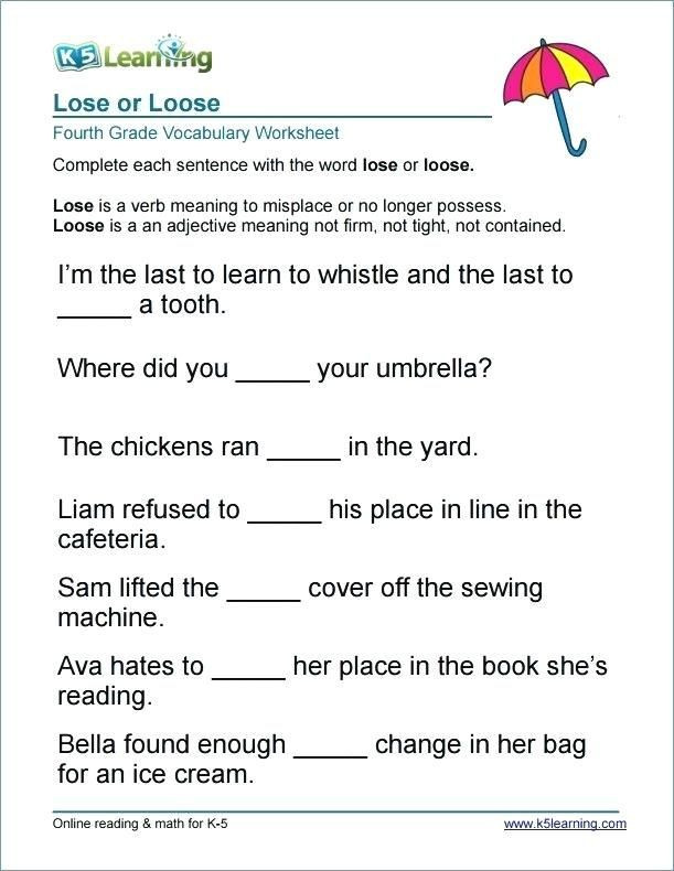 4th Grade Vocabulary Worksheets Pdf Pin On Vocabulary Worksheets