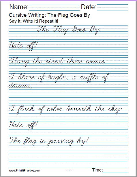 4th Grade Writing Worksheets Pdf 50 Cursive Writing Worksheets ⭐ Alphabet Sentences Advanced