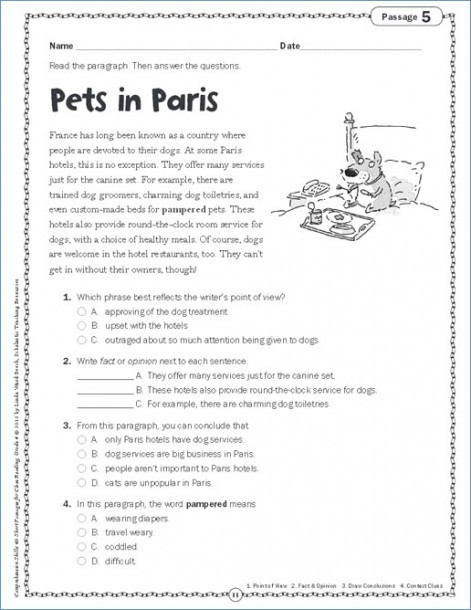 4th Grade Writing Worksheets Pdf Worksheet