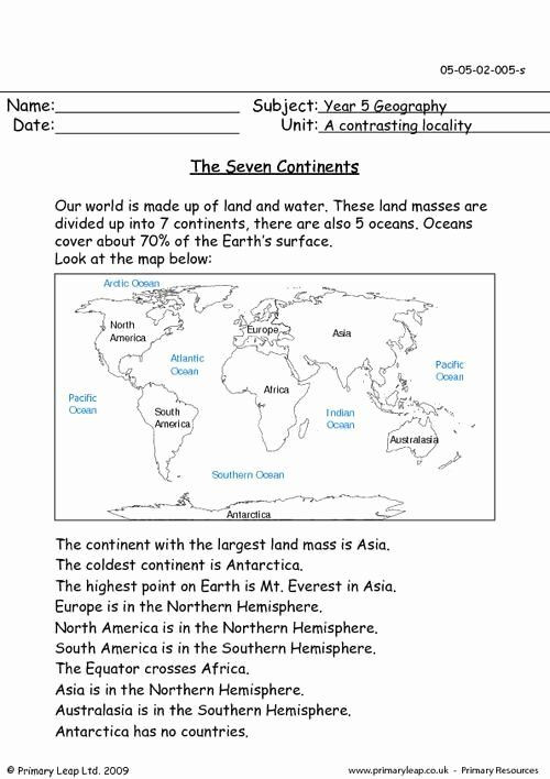 5th Grade Geography Worksheets 30 5th Grade Geography Lesson Plans In 2020