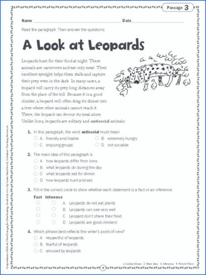 5th Grade Main Idea Worksheet 5th Grade Main Idea Worksheet About the Wonderful Wizard