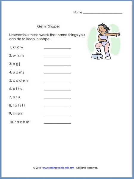 6th Grade Art Worksheets First Grade Language Arts Worksheets