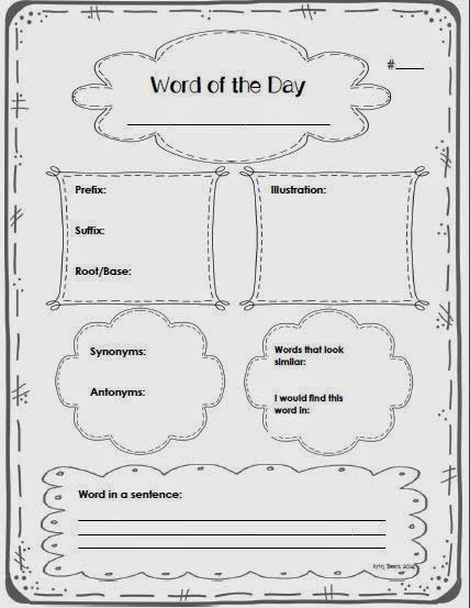 6th Grade Art Worksheets Middle Grades Word Work Resource Check It Out