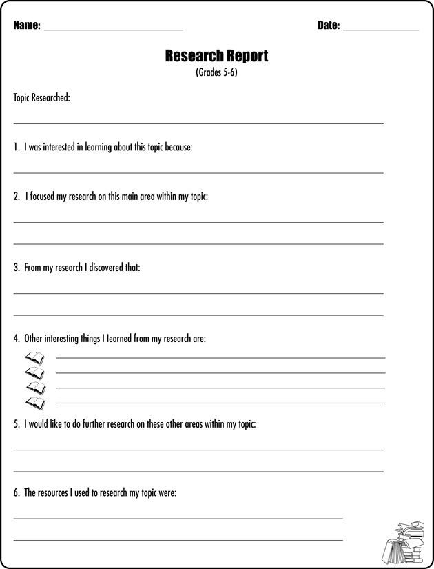 6th Grade Essay Writing Worksheets Research Report 5 & 6 Report Writing Worksheet Jumpstart