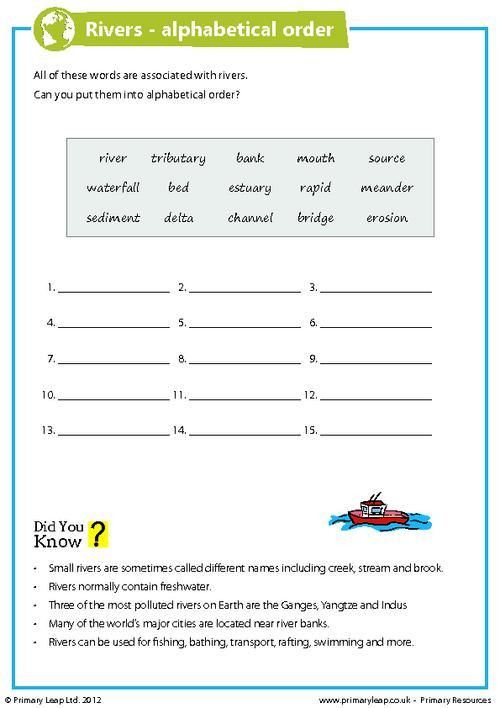 7th Grade Geography Worksheets Geography River Pollution Worksheet Primaryleap In with