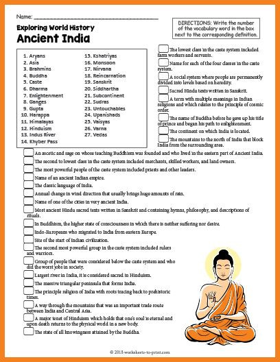 7th Grade World History Worksheets Free Printable Ancient India History Worksheet