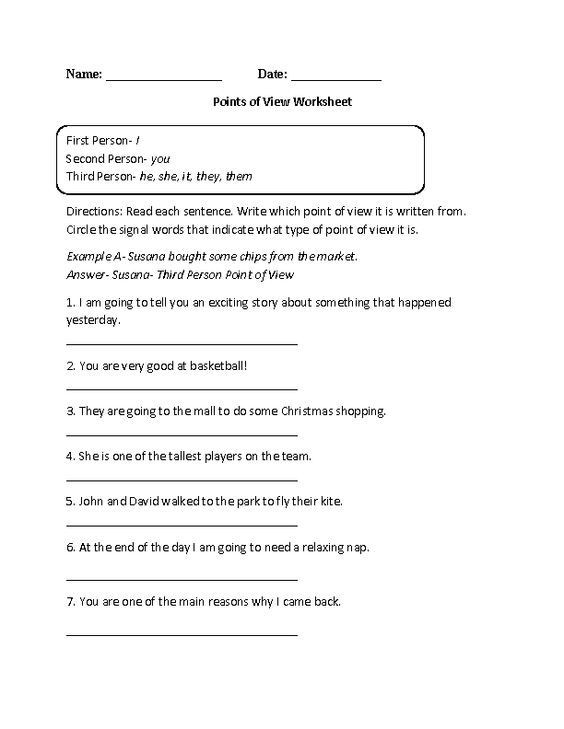 8th Grade English Worksheets English Worksheets