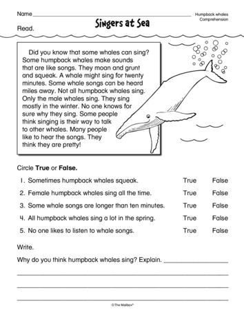 8th Grade Reading Worksheets Singers at Sea Lesson Plans the Mailbox