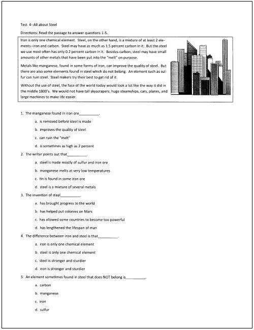 9th Grade Reading Comprehension Worksheet 10 Free Reading Tests for Students In Grades 5 Through 9