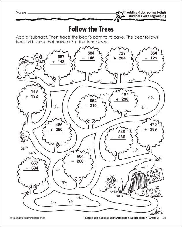 Addition with Regrouping Coloring Worksheets 3 Digit Subtraction with Regrouping Coloring Sheet