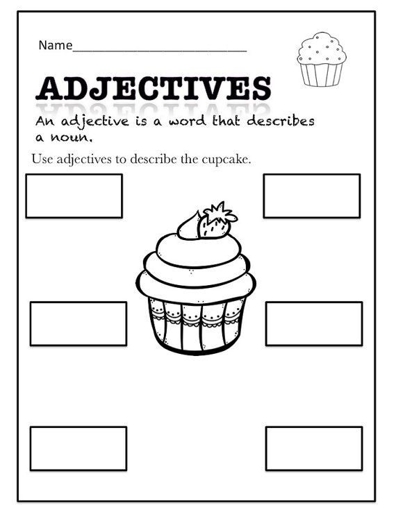 Adjectives Worksheets for Grade 1 Adjectives Fun Printables by foryoubyednakeefe On Etsy