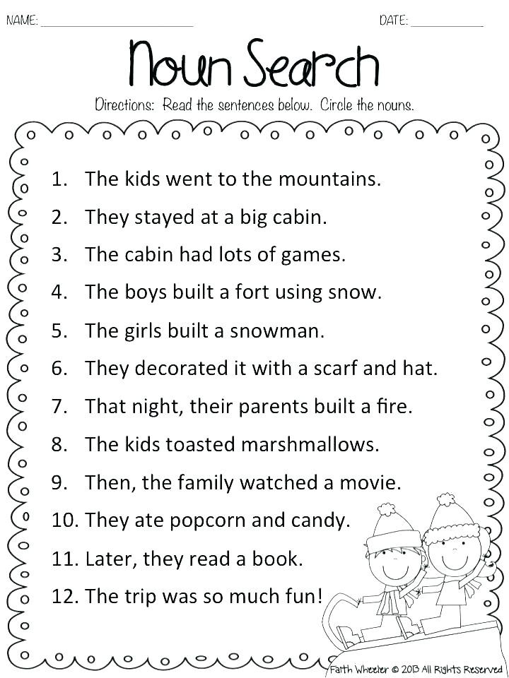 Adjectives Worksheets for Grade 1 Nouns and Pronouns Worksheets Nouns Pronouns Adjectives
