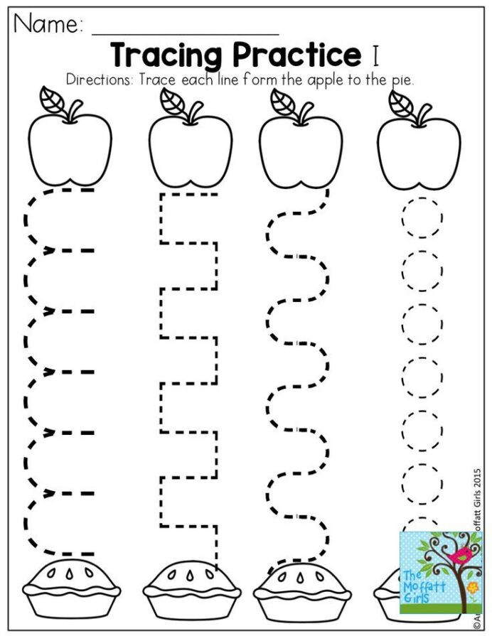 Apple Worksheets Kindergarten Back to School Packets Preschool Writing Worksheets Apple