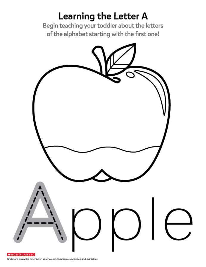 Apple Worksheets Kindergarten Printables for Ages Scholastic Parents Worksheets toddlers