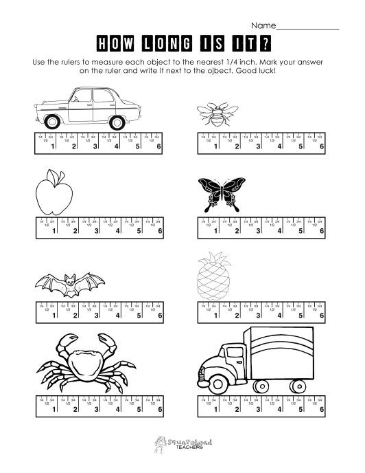 Automotive Math Worksheets Measurement Practice Freebie