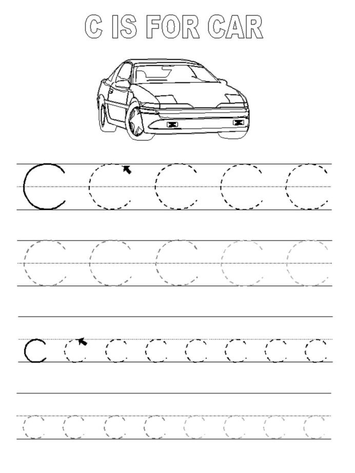 Automotive Math Worksheets Multiplication Table Worksheets Grade 4 Letter C Tracing