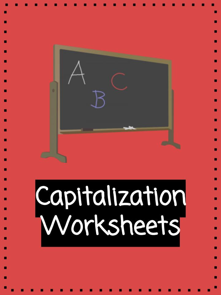 Capitalization Worksheets 4th Grade Pdf Capitalization Worksheets Pdf Printable Study Unit