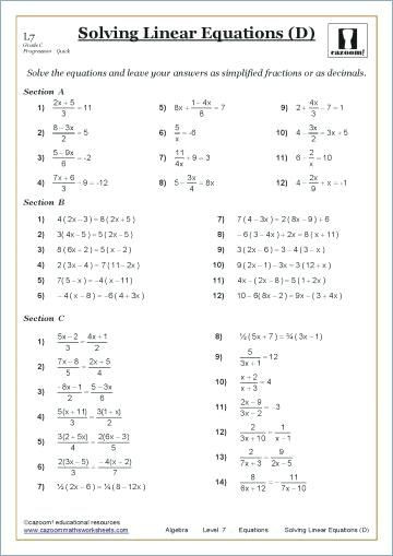 Carpentry Math Worksheets Image Result for Grade 9 Math Worksheets Linear Equations