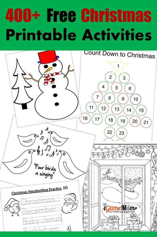 Christmas Counting Worksheets Kindergarten 400 Free Christmas Learning Printable Activities for Kids