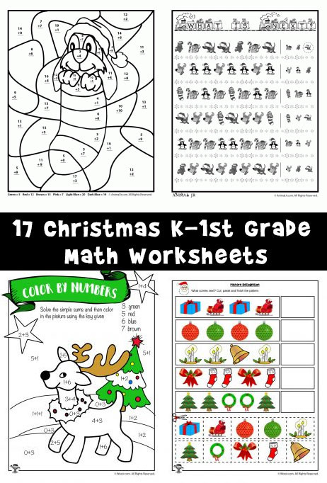 Christmas Counting Worksheets Kindergarten Free Printable Christmas Math Worksheets Pre K 1st Grade