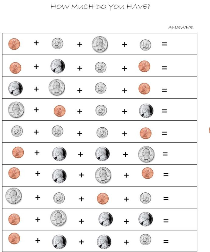 Coin Worksheets First Grade First Grade Identifying Coins and their Values Lessons Tes
