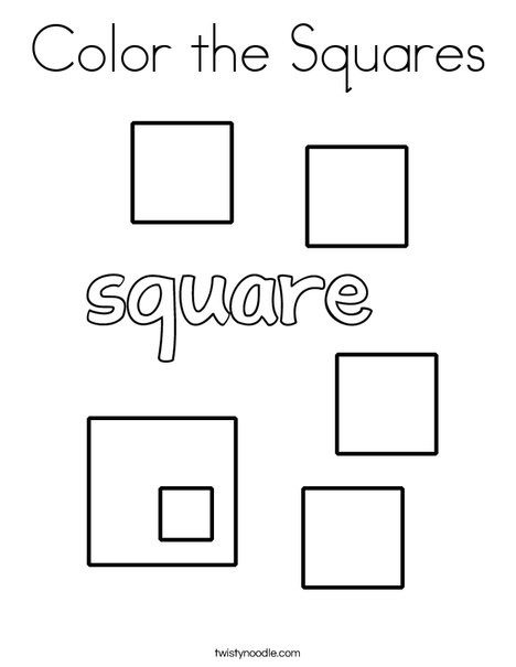Coloring Squared Worksheets Color the Squares Coloring Page Twisty Noodle