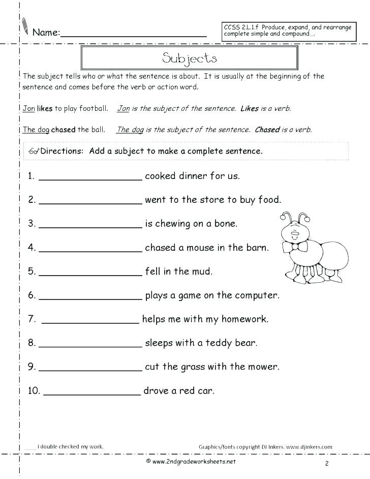 Complex Sentence Worksheets 3rd Grade Types Of Sentences Worksheets 3rd Grade – Dailycrazynews