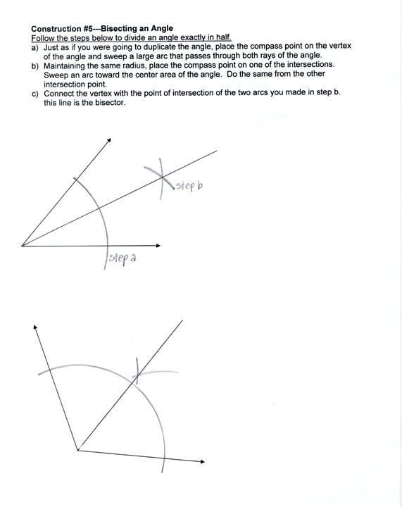 Construction Math Worksheets Geometric Constructions Worksheet Math Circle Construction
