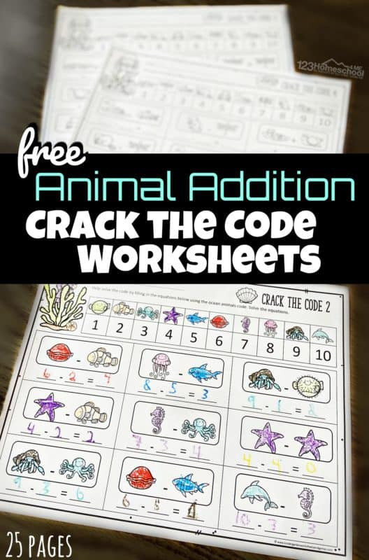 Addition Crack the Code Worksheets 528x800